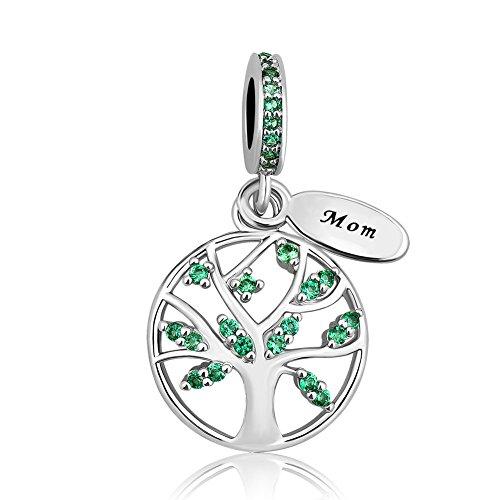 Sug Jasmin I Love You Mom Family Tree Charms Tree of Life Dangle Beads for...