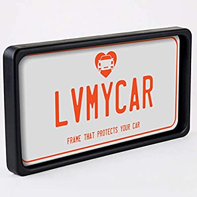 LVMYCAR BUMPGUARD - Protective License Plate Frame & Bumper Guard, Slim Yet Tough, Flexible Polyurethane Car Shock Protector – Universal Fit – Protects Car from Parking Related Scratches and Dents