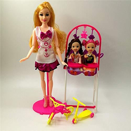 XKMY Muñeca Barbie Fashionista Ultimate Princess Doll Regalo Kids Swing Toy Accesorios de moda para Barbie Doll Play House Juguetes para niños (color : muñeca de moda)