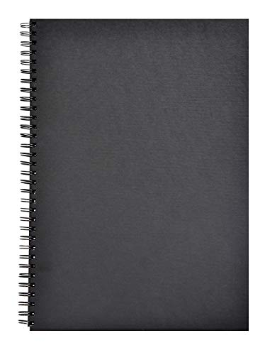 Clairefontaine 34264C Skizzenbuch mit Doppelspirale quer Goldine, Din A3, 42 x 29.7 cm, 140 g, schwarz