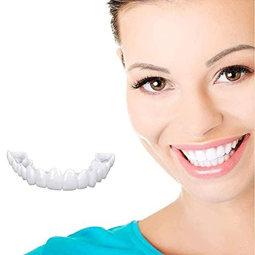 JRTF Dentaduras Postizas Carillas Instantáneas Dientes, Kit de Reparación Instantánea de Dientes, Dental de Carilla Instantánea Diente Falso Superior Inferior Cobertura de Aparato