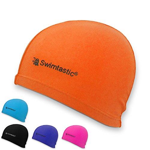 Swimtastic Lycra Swim Cap, Black