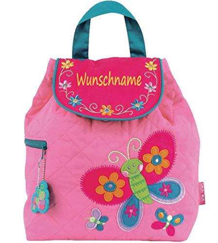 Rucksack Kindergartentasche mit Namen Bedruckt Motiv Schmetterlinge