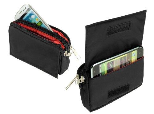 yayago -Travel-Hülle- Quertasche Tasche Hülle in Schwarz für Samsung Galaxy S4 Active (i9295) & Huawei Ascend G525