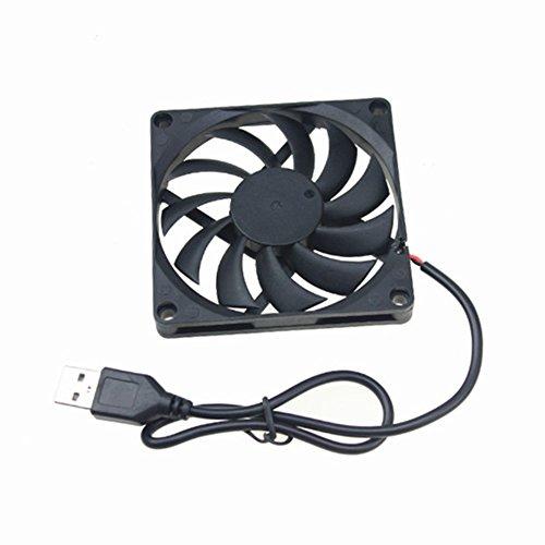 5V 0.25A 80mm 80x10mm 8cm Sin escobillas DC Conexión USB de la computadora de la caja del refrigerador ventilador de refrigeración