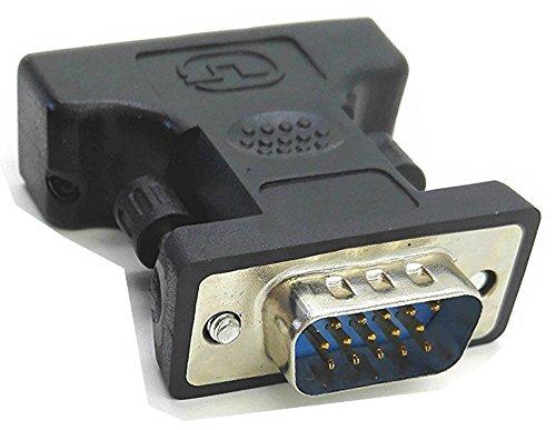 zdyCGTime DVI a VGA Adaptador de Cable – Negro – F/M, DVI...