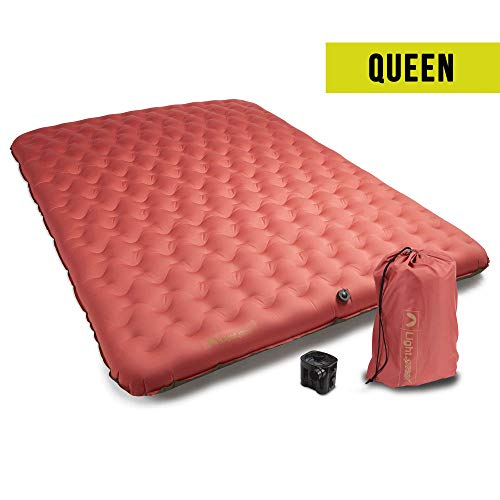 Lightspeed Outdoors Queen PVC-Free Air Bed Mattress with Flexform for Camping and Travel (Marsala)