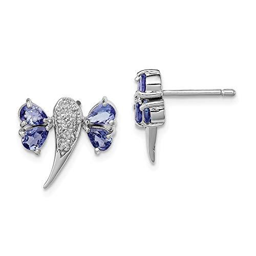 Broche de plata de ley chapado en rodio de libélulas holyskinz de diamante Juego de pendientes de - JewelryWeb