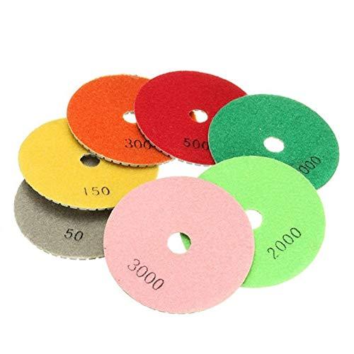 For Sale! Multitool Sanding Kits 8pcs 4 Inch Grit 100mm Dry Diamond Polishing Pads with Backer Polis...