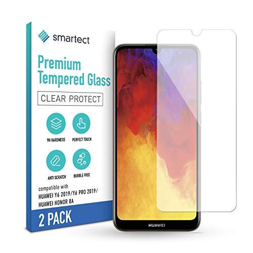 smartect Schutzglas kompatibel mit Huawei Y6 (2019) / Y6 Pro (2019) / Honor 8A [2 Stück] - Tempered Glass mit 9H Festigkeit - Blasenfreie Schutzfolie - Anti-Kratzer Bildschirmschutzfolie