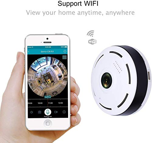GIXON White Fisheye Panoramic VR IP Camera WiFi Wireless 360 Degree 3D 1-3MP Network Camera (Pack of 5)