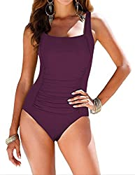The Most Flattering One Piece Swimsuits under $30. #onepieceswimsuit #womensswim #onepiece #flattering #modest #trendy #swimwear #budget