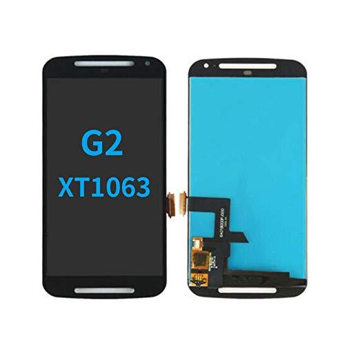 Un known for Motorola Moto G2 XT1063 XT1064 XT1068-LCD-Display mit Touch-Screen-Analog-Digital wandler Ersatz Elektronisches Zubehör (Color : White, Size :) 3