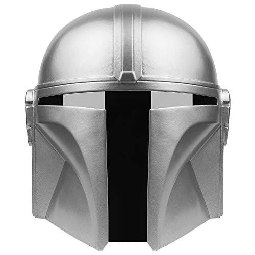 Zhangpu Mandalorian Helm, Kriege Cos Modell PVC Silber Weiß Spielen ,Deluxe Adult...