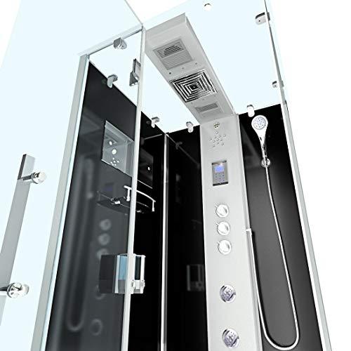 AcquaVapore DTP6038-2303L Dusche Dampfdusche Duschtempel Duschkabine -Th. 100×100, EasyClean Versiegelung der Scheiben:2K Scheiben Versiegelung +99.-EUR - 6