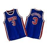 Jersey de Baloncesto para Hombre-3# Drazen Petrovic New Jersey Nets Jersey Bordado Retro, Jersey de Baloncesto Swingman Jersey Gimnasio Sudaderas cómodas Chaleco Camiseta Unisex (XS-XXL)-XXL