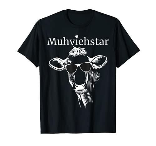 Lustiges Muhviehstar T-Shirt Landwirt Bauer Kühe T-Shirt T-Shirt