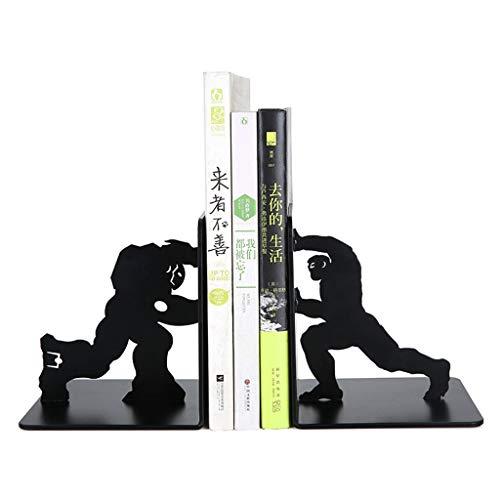 Jiji Buchstützen Buchstützen Kreative Marvel Iron Man Metall Schreibtisch Steht Buchstützenhalter Büro Schulbedarf Geschenk Studenten Dekoration Dekorative Buchstütze (Color : Black)