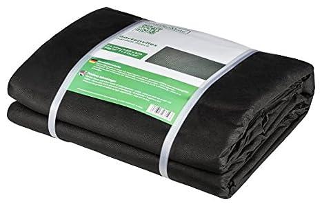 GardenMate Malla geotextil de 2 m x 25 m y 50 g/m² – Geotextil Resistente para Malas Hierbas – Estabilizada contra UV – Permeable al Agua – 2 m x 25 m = 50 m²