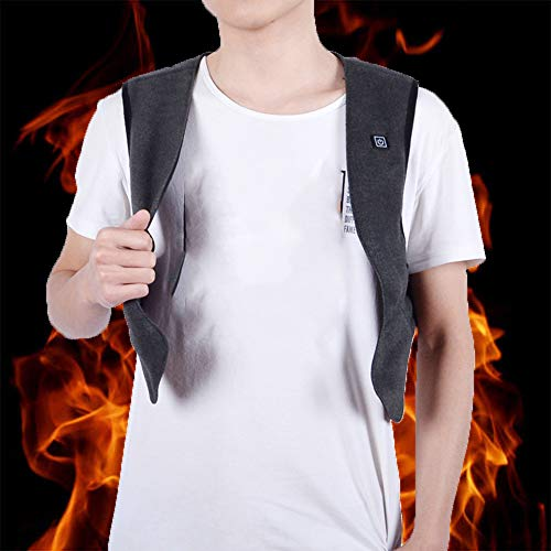 Thermisch elektrisch verwarmd vest wintervrouwen mannen warm wandelen verwarmde jassen Intelligente constante temperatuur Smart koortsmantel buiten USB vest