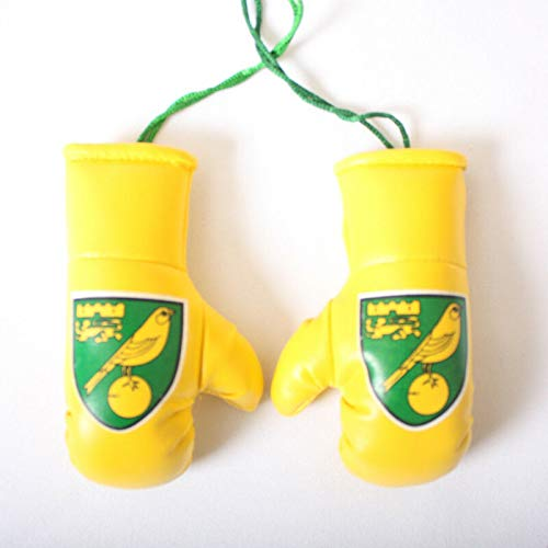 Official NORWICH CITY FC Mini Novelty Football Crest Boxing Gloves