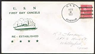 USS Achernar AKA-53 1st Day Re-Commission cover 1951