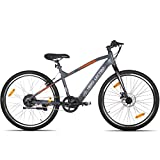 """Lectro Clix 26T SS Single Speed Electric Cycle - 16"""" Frame, Unisex (Dark Grey & Black) (No-Cost EMI Available)"""