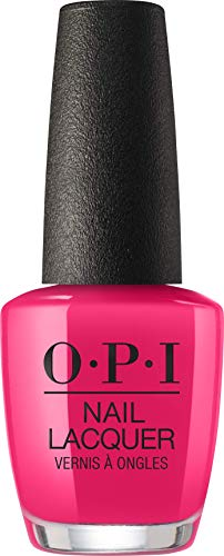 OPI Nail Polish, Nail Lacquer, Strawberry Margarita, Bright Pink Nail Polish, 0.5 Fl Oz