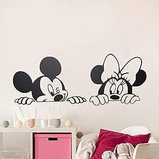 SeedWorld Wall Stickers - Cartoon Wall Stickers Kids Bedroom Art Decor Cute Mickey Minnie Mouse Baby Nursery Art Vinyl Wall Decals 1 PCs