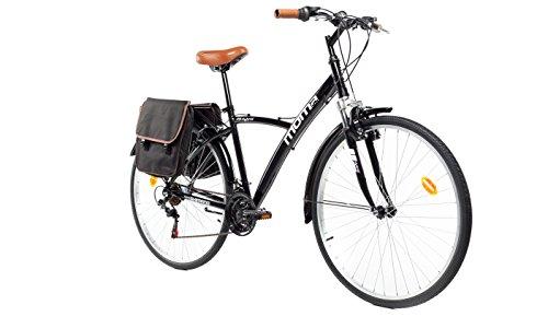 Moma Bikes 28 ngr, Bicicletta Hybrid Unisex  Adulto, Nero, Unica