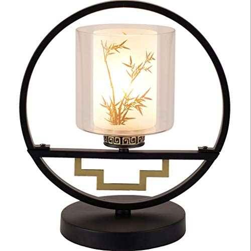 Lámpara de Mesa Lámpara de estilo nuevo chino dormitorio de noche caliente de la lámpara dormitorio lámpara de mesa de estilo chino de hierro Lámpara de mesa decorativo Lámparas de Escritorio