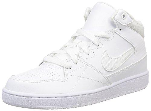 Nike Jungen Priority Mid Gs Sportschuhe, Mehrfarbig (White/White), 40 EU