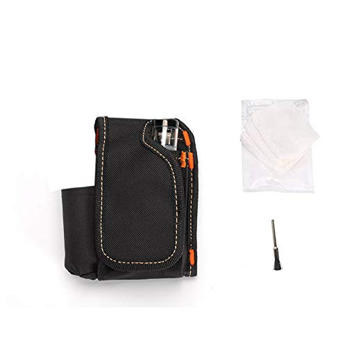 Vape Case Travel Aiture Tool Bag Vapor Carrying Pouch Portable Pocket Pole Box Storage Bag with Organic Cotton/Cleaning Brush