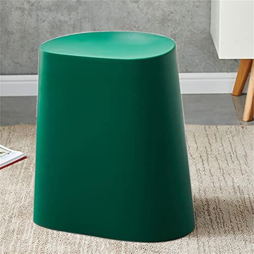 WXXSL - Sgabello moderno in plastica, per riporre i piedi, per il soggiorno, 150 kg, colore: verde