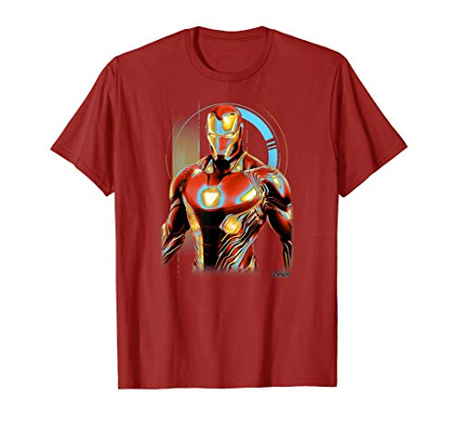 Marvel Infinity War Iron Man Digital Profile Pose T-Shirt