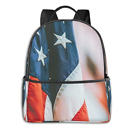 Mochila de escuela para estudiantes de la bandera americana, de viaje, de camping, al aire libre, de la bandera americana