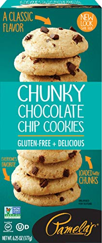 Pamela's Products Chunky Chocolate Chip Gluten Free Cookies, 6.25 oz boxes, 6Count