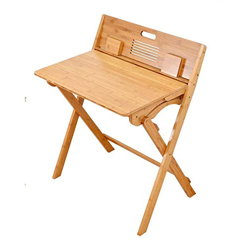 ZXL Folding Computer Writing Desk Children's Study Table Solid Wood Primary School Students Writing Desk Homework Desk Kids Desk and Chair Set,Bamboo (Size : Desk)