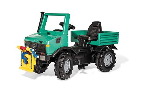 Rolly Toys rollyUnimog Forst (für Kinder ab 3 Jahre, mit Anbauseilwinde mit Kurbel, verstellbarer Sitz, Flüsterlaufreifen) 038206