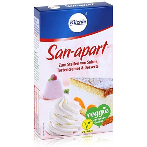 Küchle San-apart 125g - Zum Steifen von Sahne,Tortencremes & Desserts