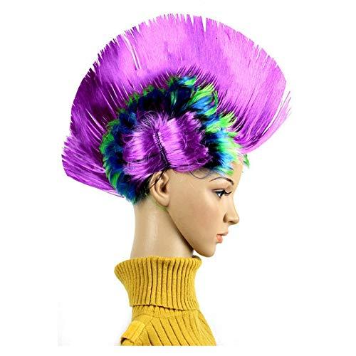 Laifeng ZIMO, lustige Weihnachts Halloween Perücke Masquerade Kopfschmuck Mohawk Haare kämmen, zufällige Farbe Lieferung