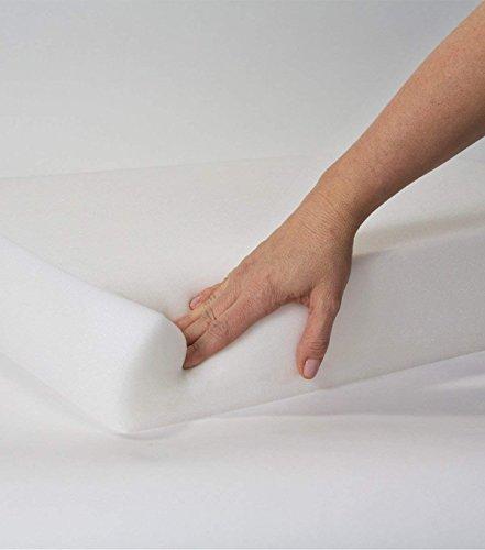 IZO Home Goods Upholstery Foam 2 inch X 20 X 20 Foam Replacement Seat Cushion Foam, Set of 4