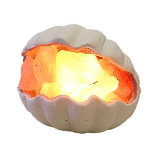 WNZL Himalaya en Cristal de sel, Lampe Shell Méditerranée libération négative ION Air purifiant pour la Salle de Chambre Lampe de Chevet Enfants