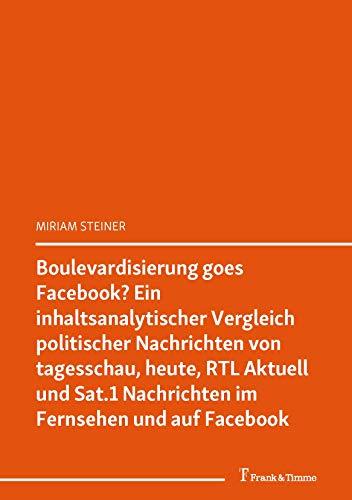 Boulevardisierung goes Facebook? Ein inhaltsanalytischer Vergleich politischer Nachrichten von tagesschau, heute, RTL Aktuell und Sat.1 Nachrichten im ... Forum Politische Kommunikation 5)