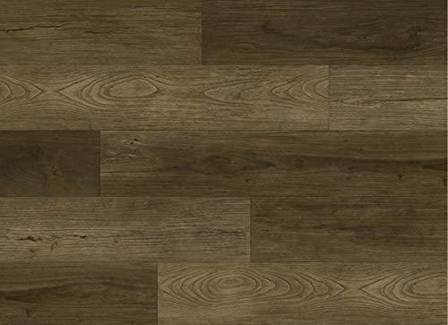Kraus LVT Luxury Click Fit - Suelo de vinilo 100% impermeable, Kielder Mid Oak 2,2 m² Pack - QEPLVTP002