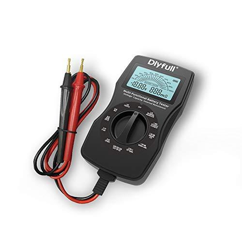 Dlyfull B3 Universal LCD Batterietester Batterieprüfergerät Smart Akkutester,Universal Tester für Akku, Batterien, Knopfzellen etc, Check Batteriespannung,Innenwiderstand und die Batteriekapazität