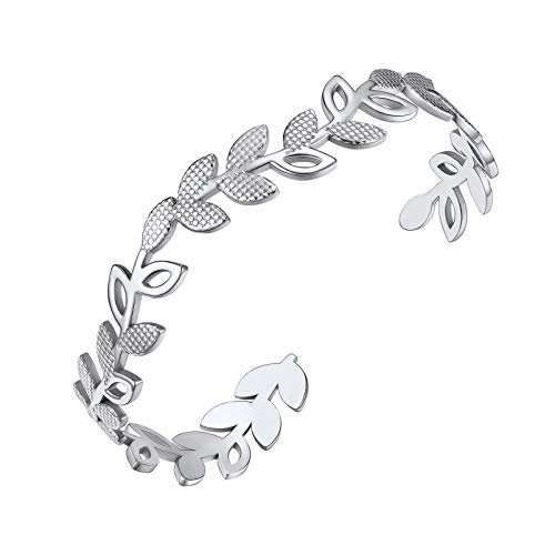 PROSTEEL Cuff Bracelet Silver Color Women Cuff Bangle Bracelets