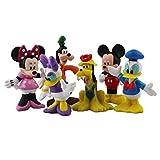 qinhuang 6 Unids / Set Figura De Juguete Mickey Minnie Mouse Donald Daisy Duck Pluto Goofy PVC Figura De Acción, Modelo De Dibujos Animados Muñeca Regalo para Niños