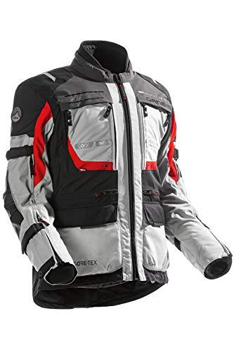 Dane REYKHOLT GORE-TEX Motorradjacke Farbe schwarz/rot/hellgrau, Größe 54