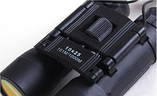 Mini 10x 25Prismáticos Telescopio con visión nocturna–Estilo Aleatorio 101m/1000m (negro)
